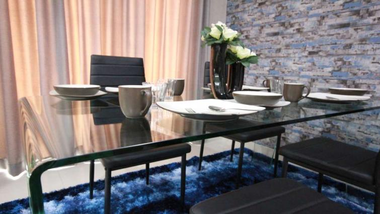 Dining area at Harvia Suites