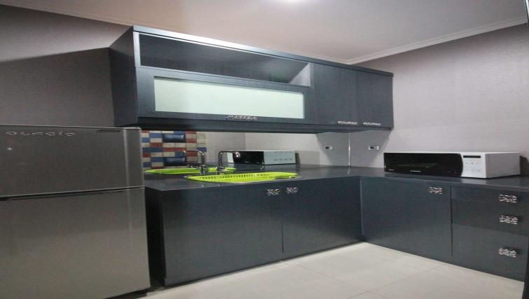 Kitchen at Harvia Suites