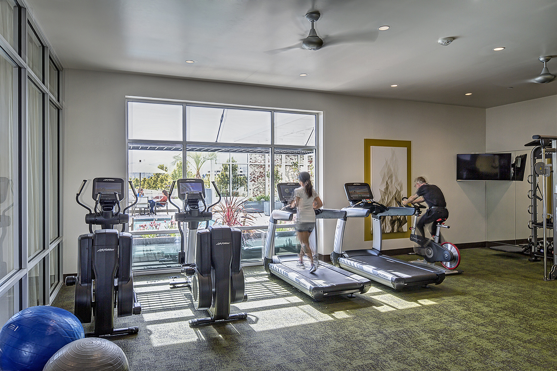 Gym at Ave Walnut Creek Apartments