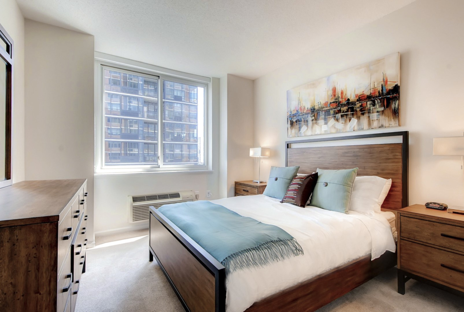 Bedroom at M2 Apartments, Hudson Exchange, Jersey City