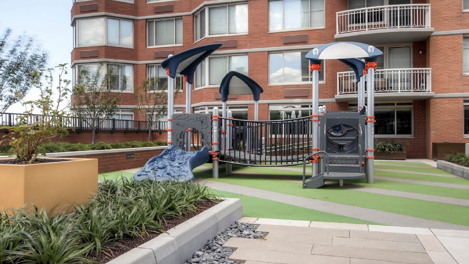 Playground at M2 Apartments, Hudson Exchange, Jersey City