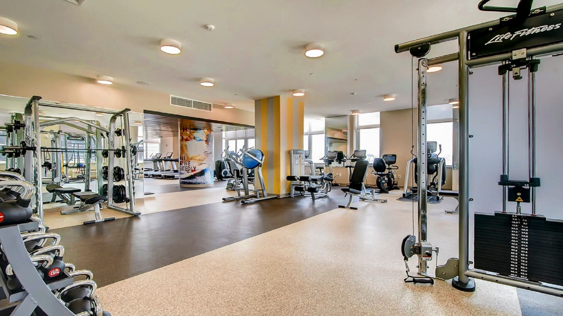 Gym at M2 Apartments, Hudson Exchange, Jersey City