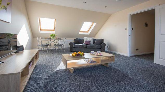 Living area at Neil Gordon Gate Apartment