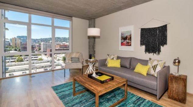 Living area at ASA Flats and Lofts
