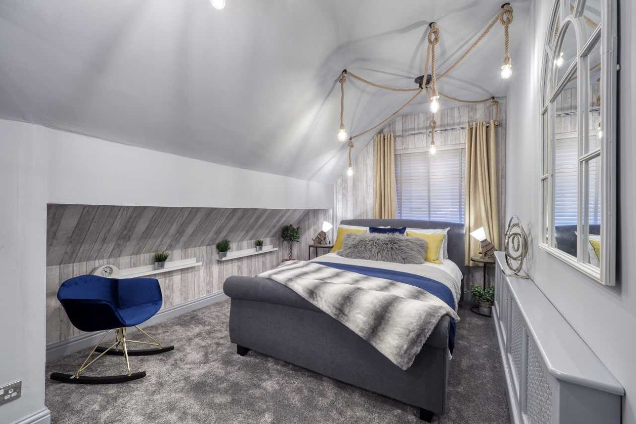 Bedroom at Mulberry House Apartments