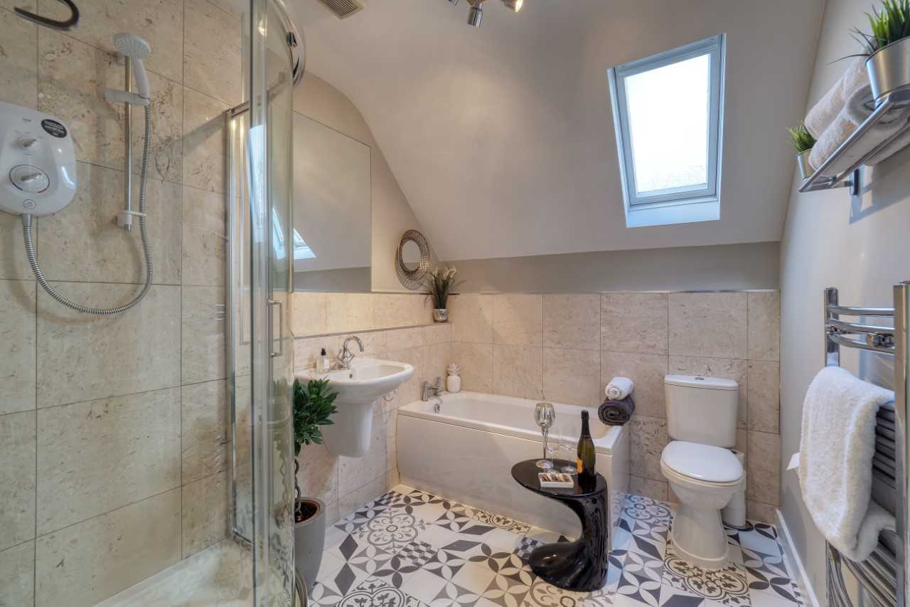 Bathroom at Mulberry House Apartments