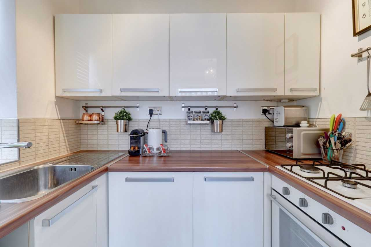 Kitchen area at Mulberry House Apartments