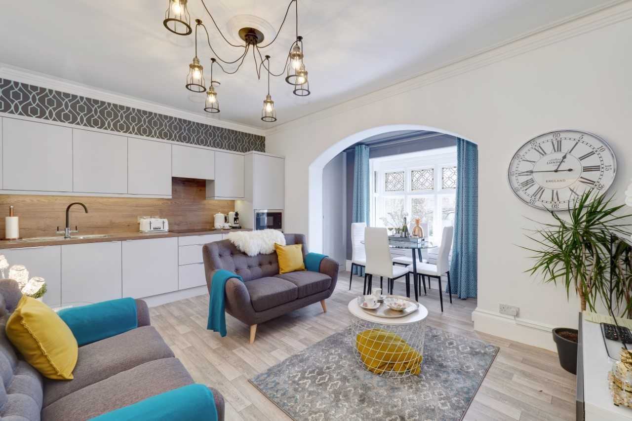 Cosy living room at Mulberry House Apartments