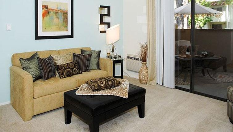 Living area at Avalon Mountain View Apartments