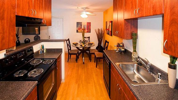 Equipped kitchen at Avalon Mountain View Apartments