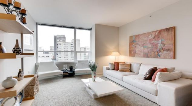 Living room at M Street Apartment