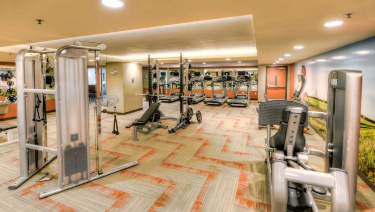 Spacious fitness centre at the Harbour Apartment