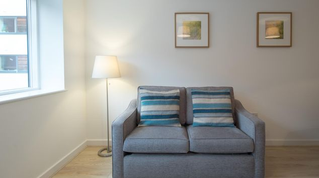 Sofa at  Ryland Street Apartment