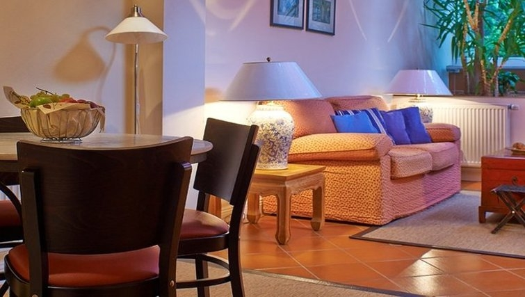 Cosy living area in Xenios Apartments