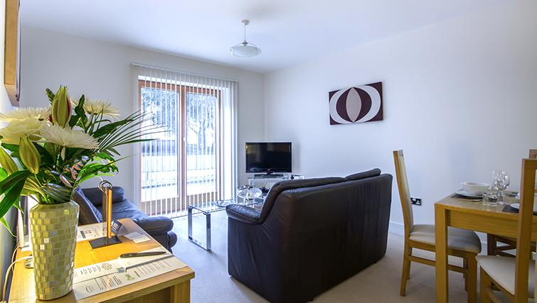 Lounge area at The Post Box Apartments