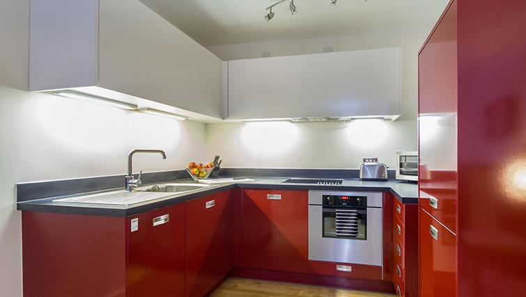 Modern kitchen at The Post Box Apartments