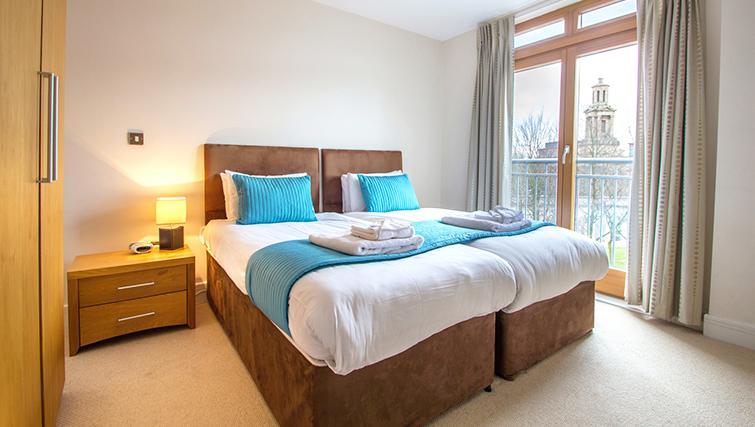 En-suite bedroom in The Post Box Apartments