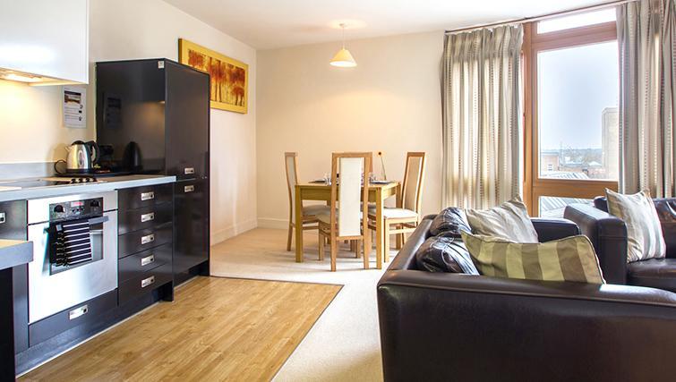 Premium living area in The Post Box Apartments