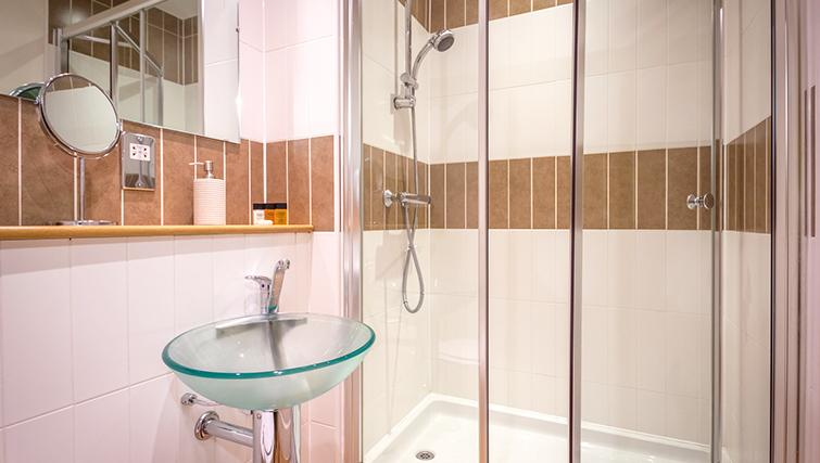 Shower at The Post Box Apartments