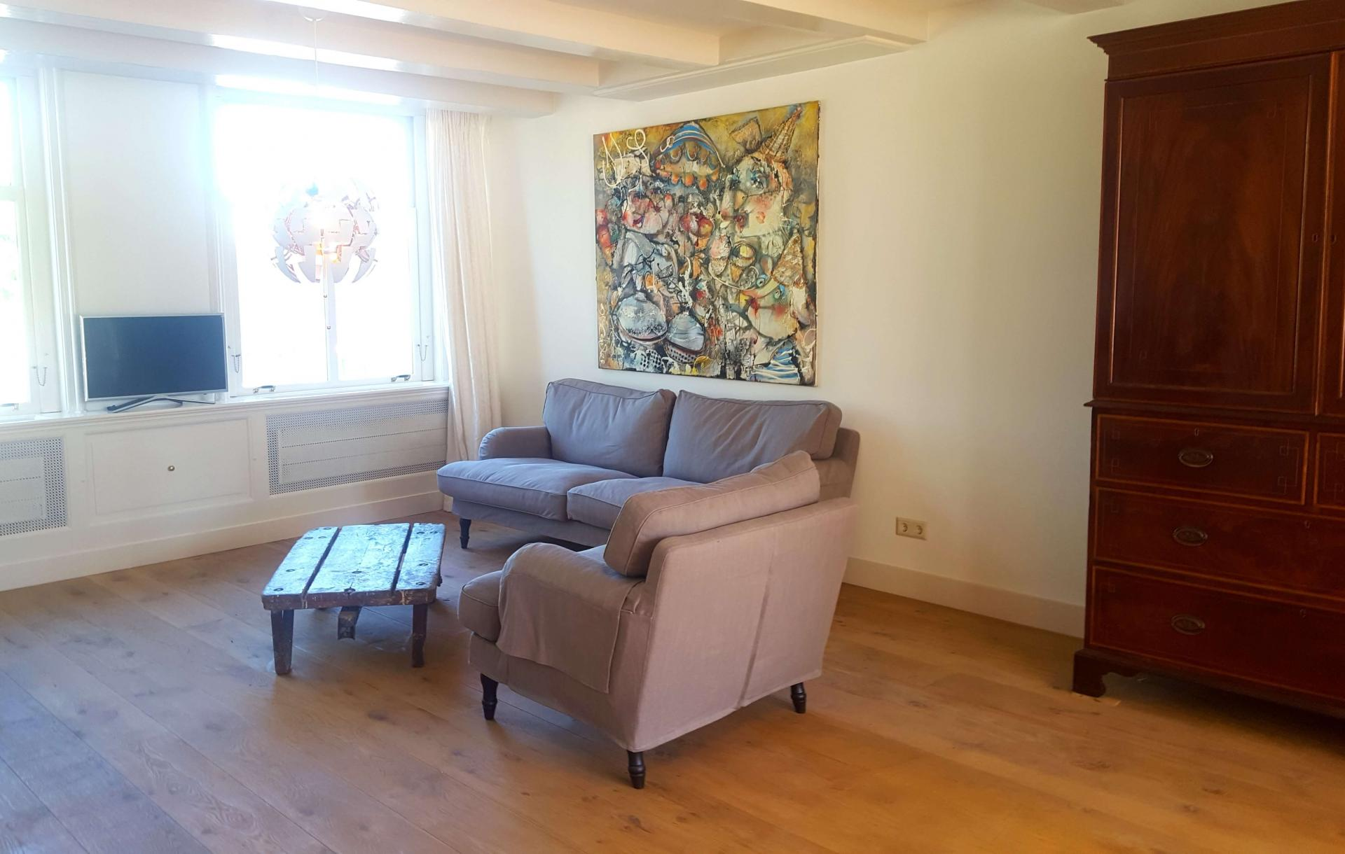 Sofa at 23 Haarlemmplein Apartments, Amsterdam