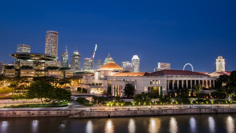 Great views at the Heritage Clarke Quay Apartment, Singapore