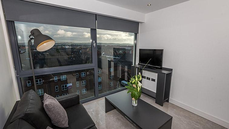 Living area at Gallery at the Dublin Road Apartments