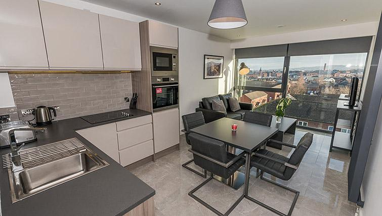 Open plan kitchen at Gallery at the Dublin Road Apartments