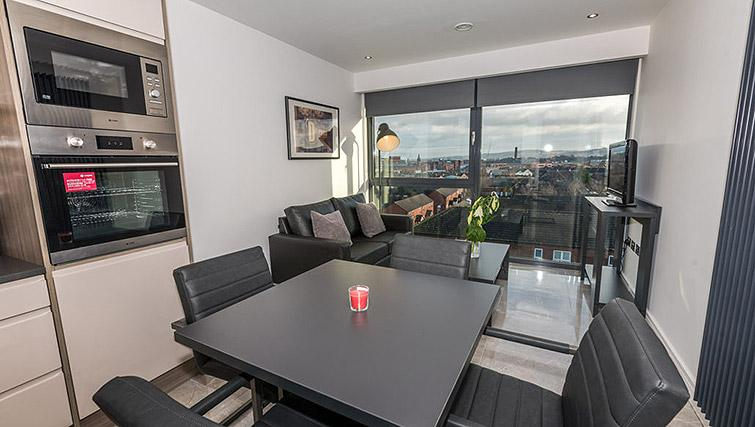 Dining area at Gallery at the Dublin Road Apartments
