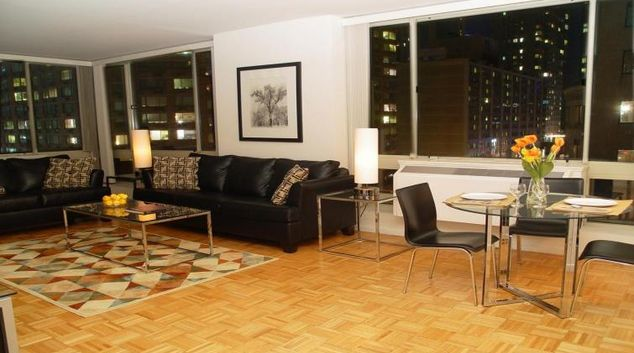 Living area at Longacre House Apartment