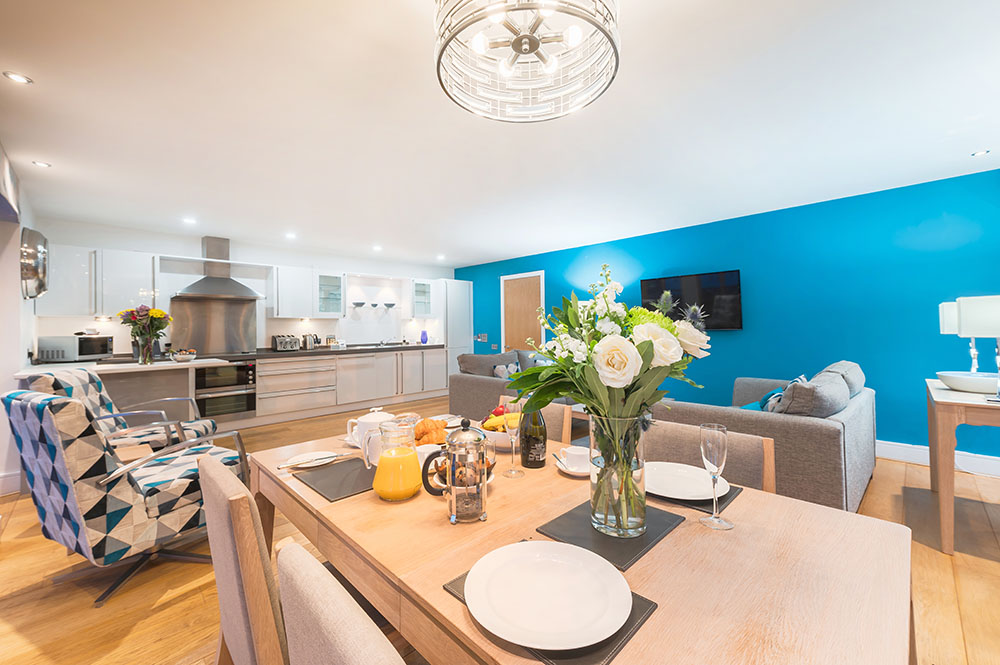 Dining table at Highland Apartments, Centre, Inverness