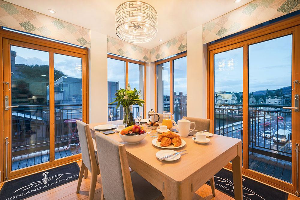 Dining area at Highland Apartments, Centre, Inverness