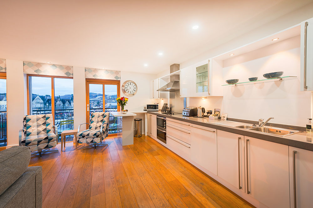 Kitchen at Highland Apartments, Centre, Inverness