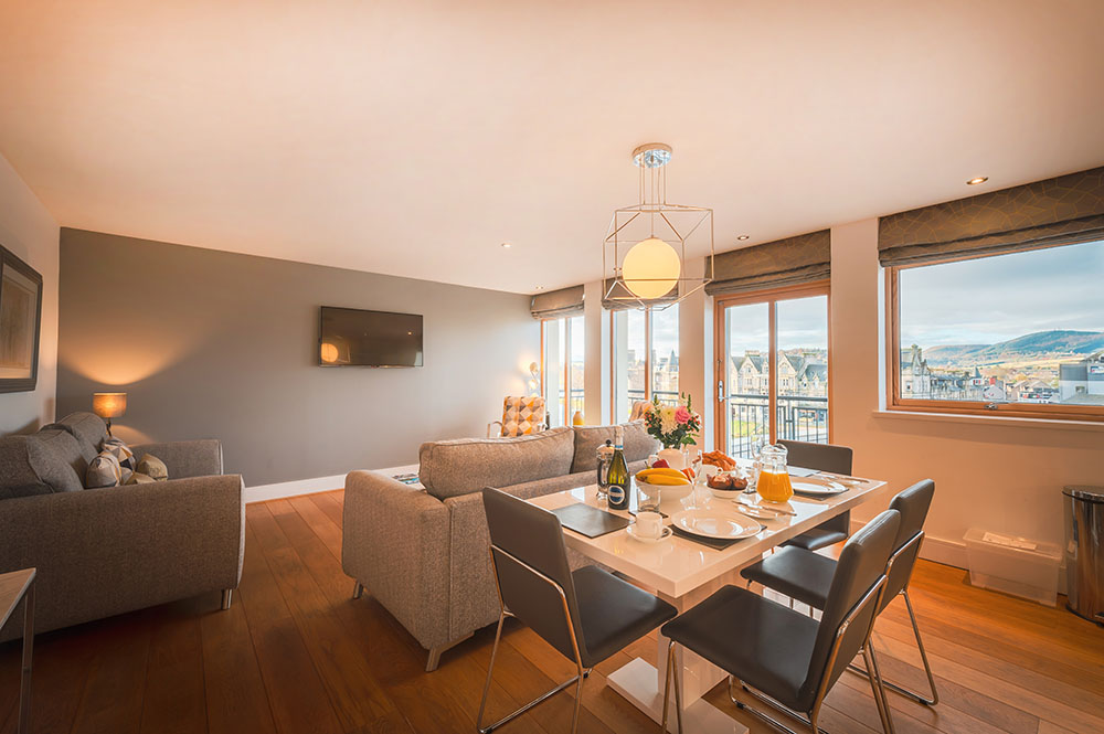 Open-plan at Highland Apartments, Centre, Inverness