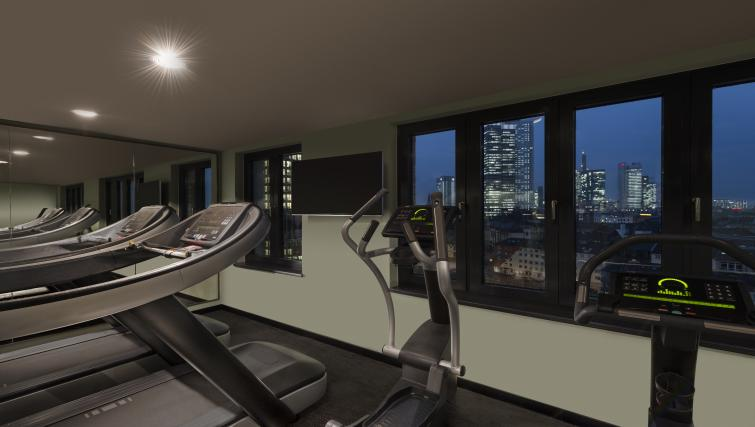 Gym at the Adina Apartment Hotel Frankfurt Westend
