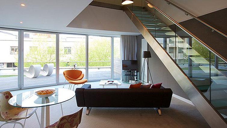 Living room at Staying Cool at The Rotunda