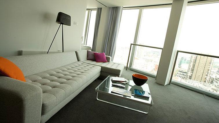 Spacious living area at Staying Cool at The Rotunda