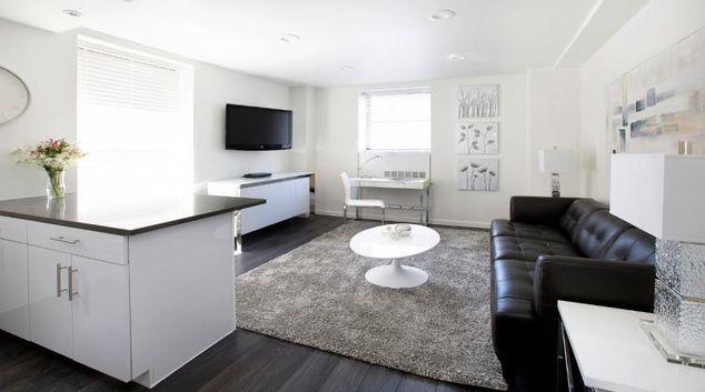 Living area at Executive Plaza Apartment