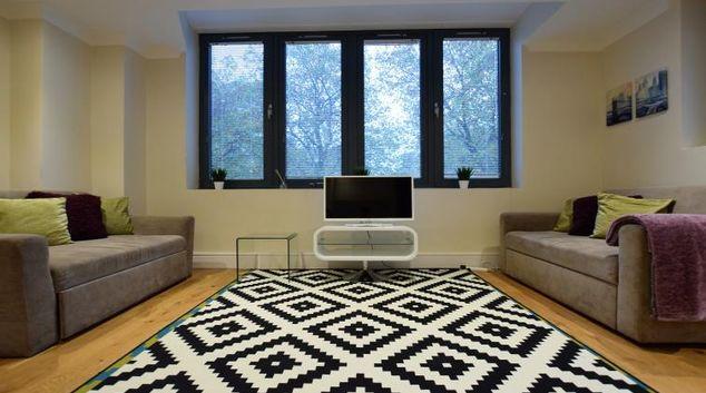 Living room at Bristol Riverside Apartment