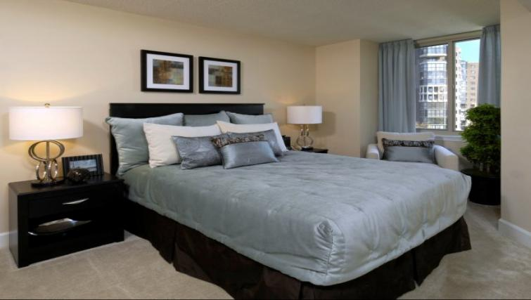 Bedroom at Meridian At Ballston Commons Apartments