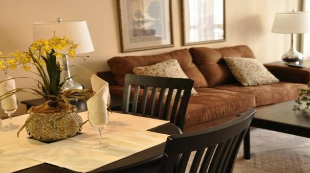 Living Room at Meridian At Ballston Commons Apartments
