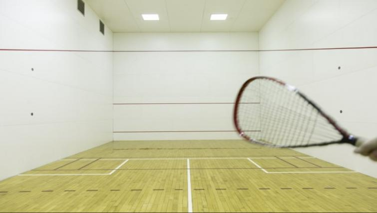 Squash room at Meridian at Courthouse Commons Apartments