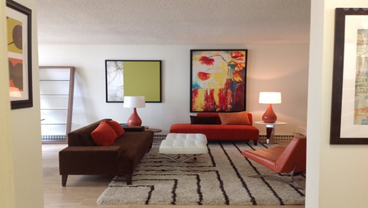 Living area at The Gateway Apartment