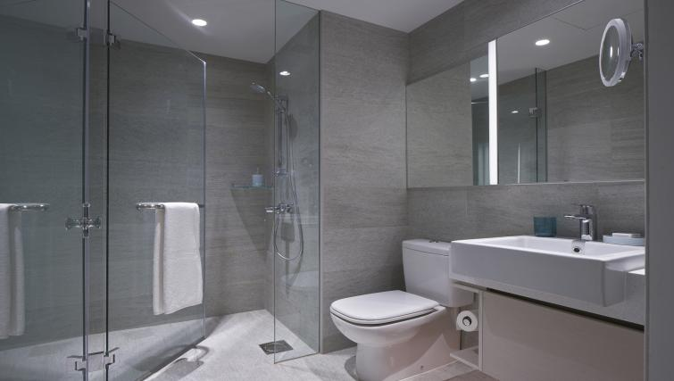 Bathroom facilities at the Winsland Apartments, Singapore