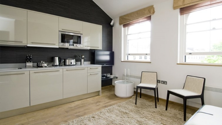 Open-plan kitchen in Space Apartments