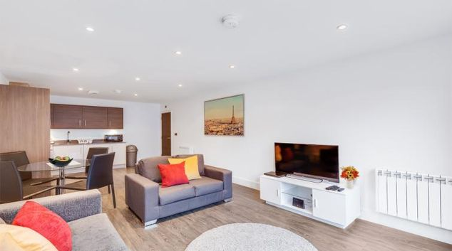 Lounge at the The Foundry Apartments