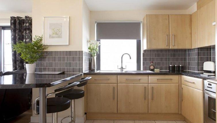 Stylish kitchen in The Cheltenham Plaza Apartments