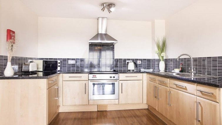 Classy kitchen in The Cheltenham Plaza Apartments