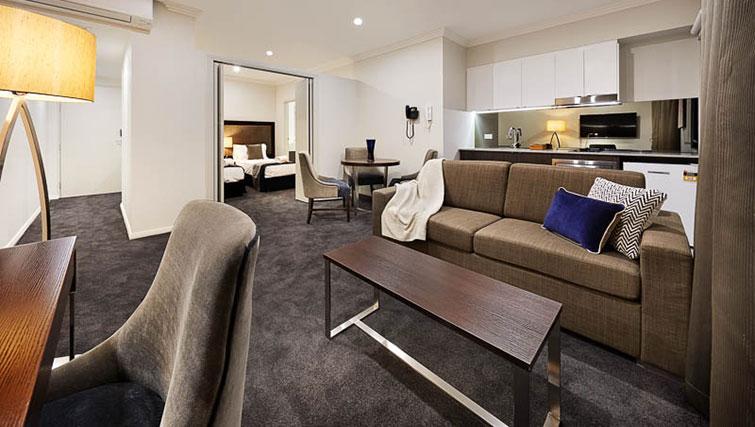 Living area at Attika Apartments