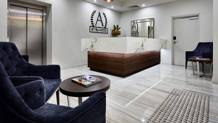 Lobby at Attika Apartments