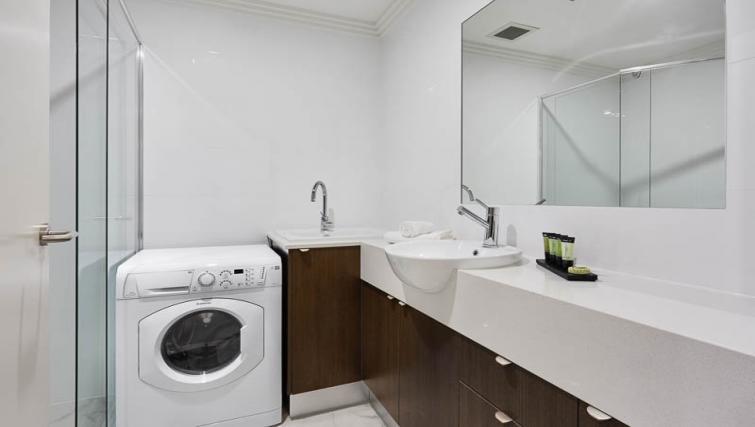 Laundry facilities at Attika Apartments